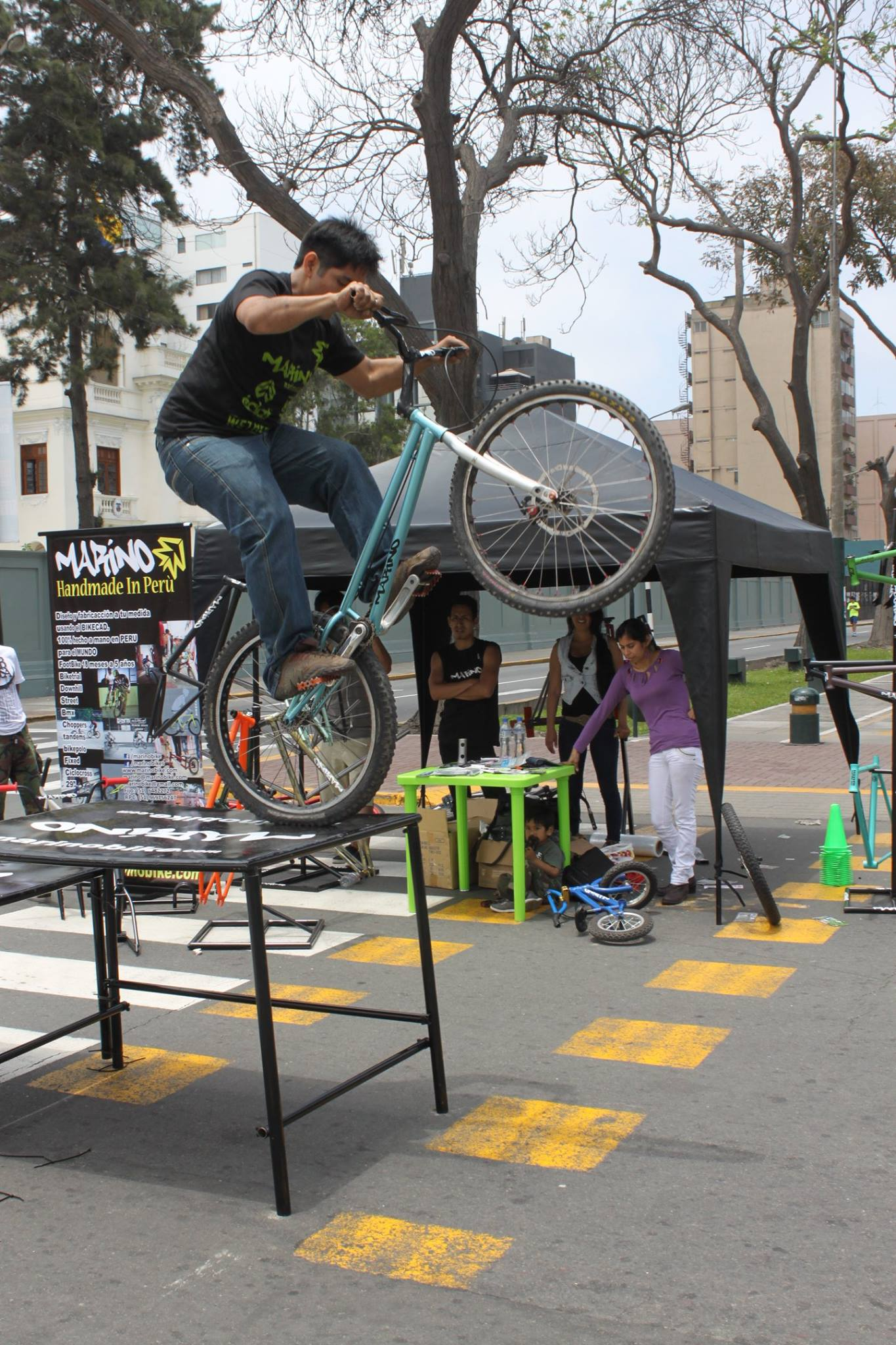 Marino Alegre riding his trials bike - MarinoBike