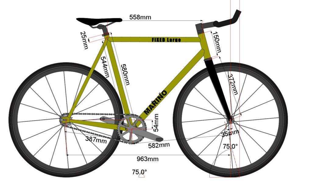Marino Bike Fixie L - Fixed Bike Chromoly Frame