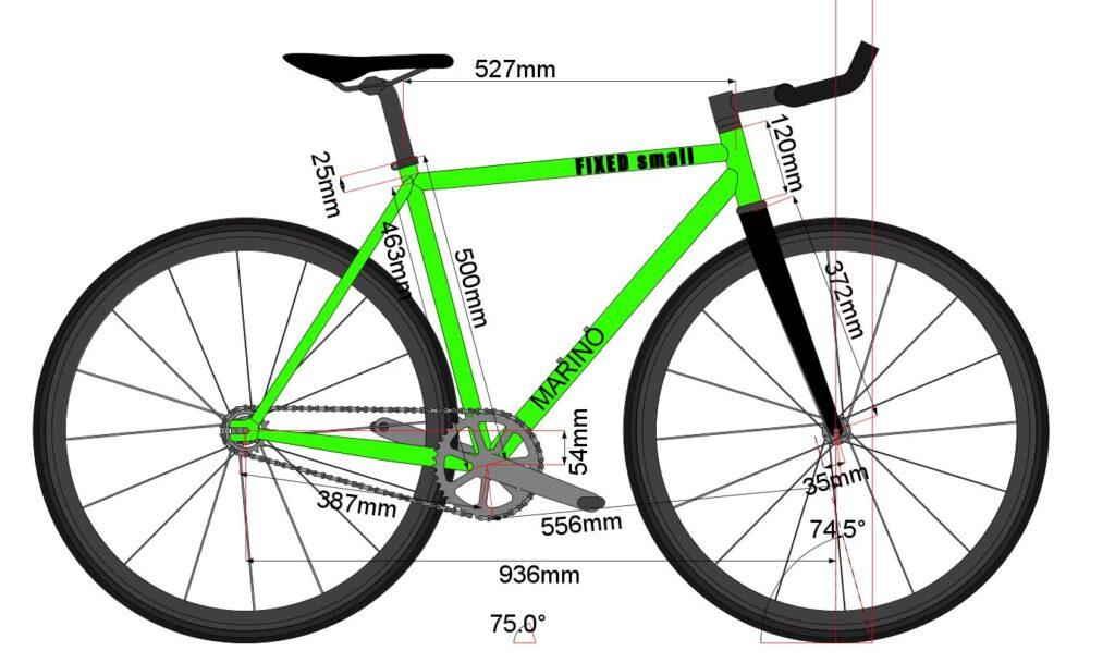 Marino Bike Fixie S - Fixed Bike Chromoly Frame